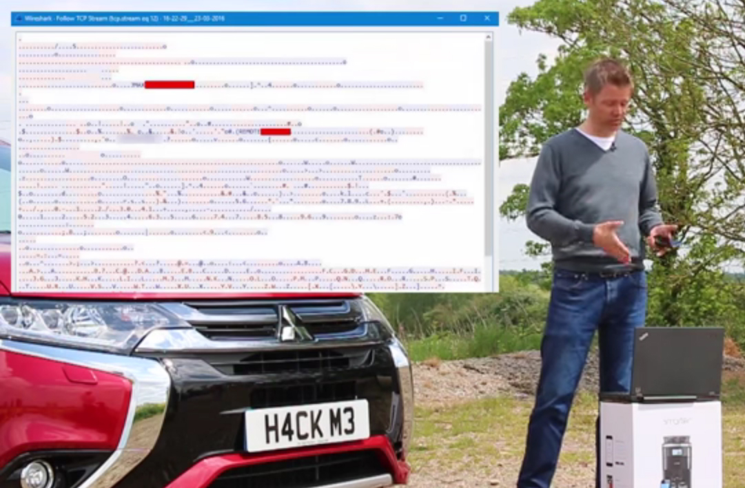 insolite des hackers piratent un mitsubishi outlander phev. Black Bedroom Furniture Sets. Home Design Ideas
