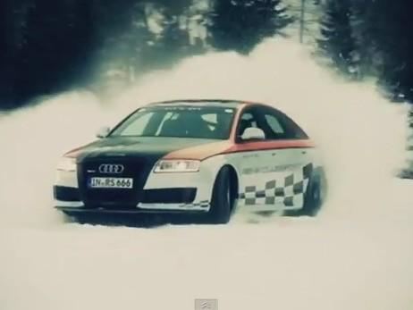 L'Audi RS6 MTM Clubsport se dégourdit les pneus dans la neige