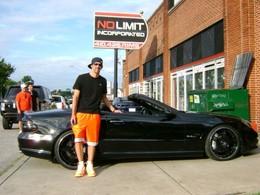 Michael Phelps nage en plein bonheur grâce à sa Mercedes SL63 customisée