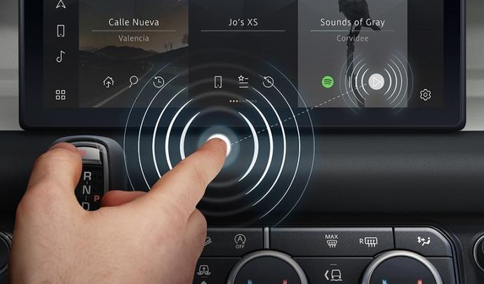 Jaguar dévoile un écran sans contact tactile