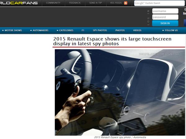 Le nouveau Renault Espace équipé d'un grand écran tactile