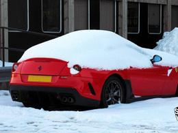 Insolite : Une Ferrari 599 GTO prisonnière des neiges d'Ecosse