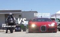 Vidéo moto : Kawasaki Ninja H2R vs Supercars