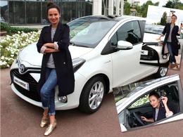 Amelle Chahbi roule en Toyota Yaris Hybride