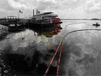 Grave pollution au fioul dans l'embouchure du Mississipi