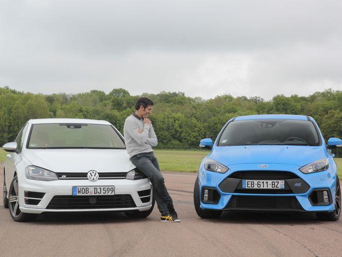 Comparatif vidéo - Ford Focus RS vs Volkswagen Golf R : une lettre qui fait la différence ?