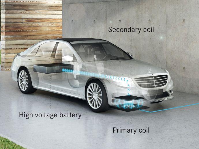 Future Mercedes Classe S500e : une limousine rechargée par induction