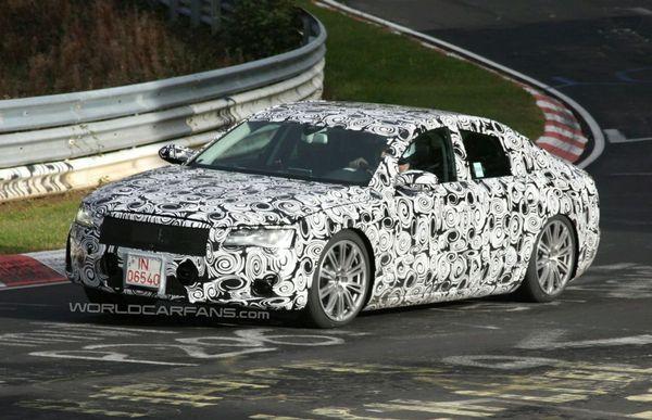 Future Audi A8 : derniers tests sur le Ring avant la première à Los Angeles