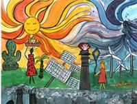 Concours de peinture des enfants : le thème est le changement climatique