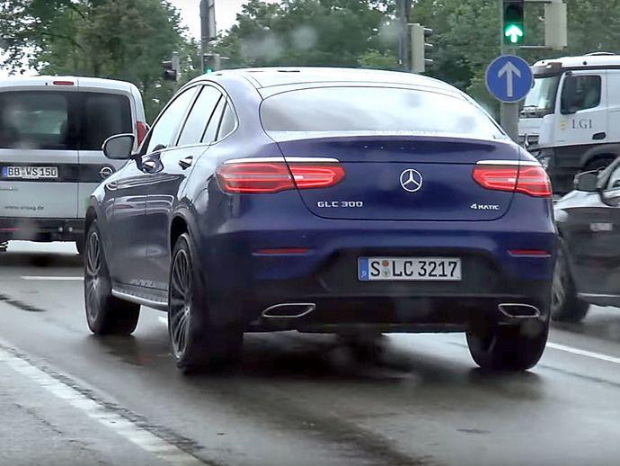 Surprise : le Mercedes GLC Coupé de sortie entièrement nu