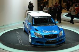 La Skoda Fabia S2000 sans la bâche
