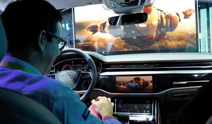 Audi réinvente le drive-in! - Vidéo en direct du salon de Las Vegas 2019