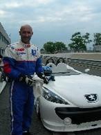 Fabien Barthez en course à Pau avec Peugeot
