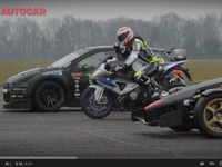 Vidéo - Ariel Atom V8 vs Citroën DS3 rallycross vs BMW HP4 : qui l'emporte sur un 400 m DA ?
