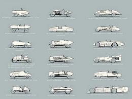 Toutes les voitures de record en une seule image