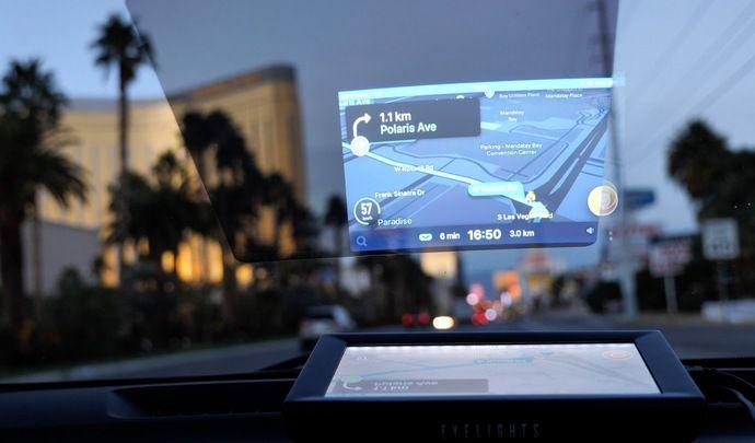 Caradisiac a testé EyeDrive, affichage tête haute « discount » - Vidéo en direct du salon de Las Vegas