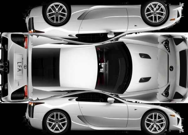 La Lexus LFA n'est pas une supercar en carton : elle est en papier