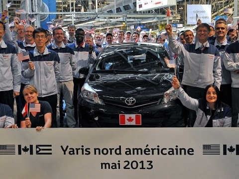 des toyota yaris made in france export es en am rique du nord. Black Bedroom Furniture Sets. Home Design Ideas