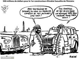Le dessin du jour – L'Arabie Saoudite se lance dans l' auto low cost à prix cassé