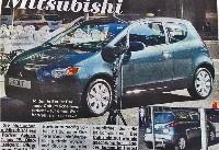 Mitsubishi Colt restylée: elle a bouffé de la Lancer