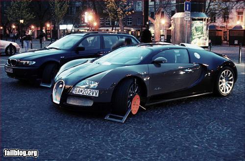Fallait pas… Se garer n'importe où en Bugatti Veyron