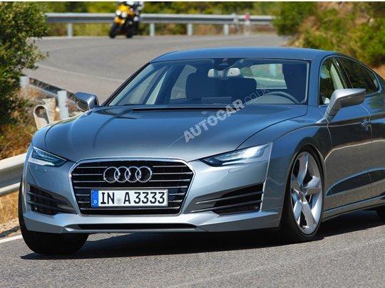 La future Audi A9 cible la Porsche Panamera
