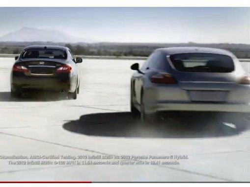 Bagarre d'hybrides : Infiniti M35h 1 : 0 Porsche Panamera S Hybrid