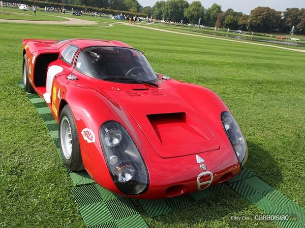 Photos du jour : Alfa Romeo Tipo 33/2 1968 (Concours d'élegance de Chantilly)