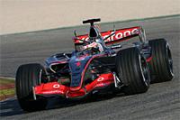 L'écurie McLaren Mersedes poursuivra ses essais vendredi à Valence