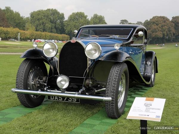 Photos du jour : Bugatti Type 50 - 1932 (Concours d'élegance de Chantilly)
