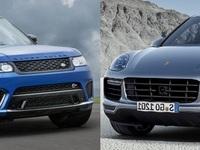 Match du Mondial : Range Rover Sport SVR ou Porsche Cayenne Turbo ?