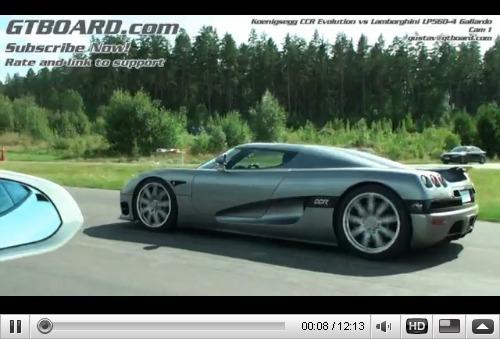 Réveil Auto - Lamborghini Gallardo LP560-4 vs Koenigsegg CCR, la leçon