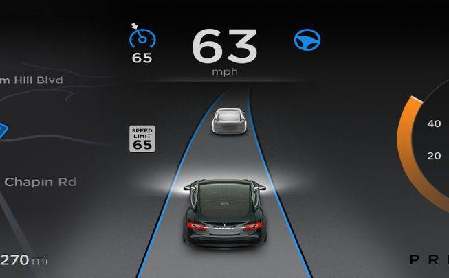 Tesla met à jour son système Auto Pilot