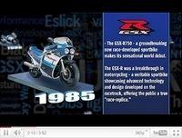 26 ans de Suzuki GSX-R en vidéo