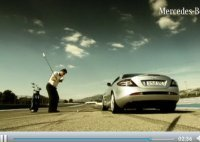 Duel : Mercedes SLR Roadster vs ... Golf (balle de)