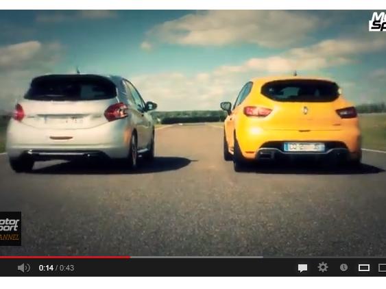 Drag Race Motorsport : Renault Clio R.S vs Peugeot 208 GTI