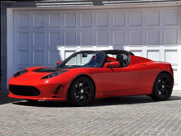 1500 Tesla Roadster dans la nature