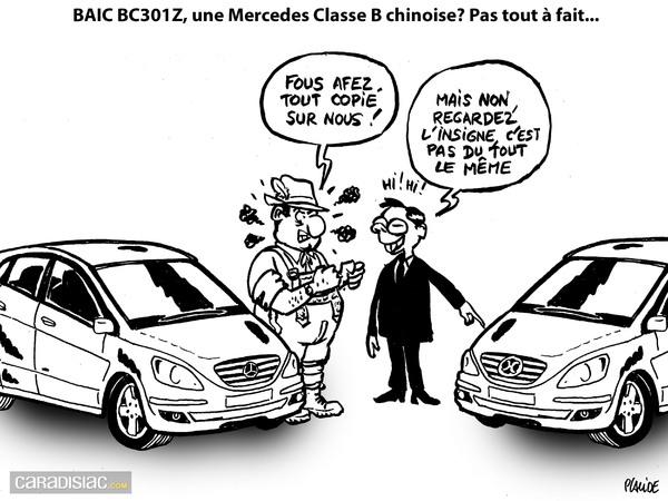 Le dessin du jour – Baic Bc301z vs Mercedes Classe B : le jeu de l'erreur