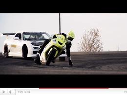 Drift Contest : Mazda RX7 FD vs... Kawasaki ZX-10