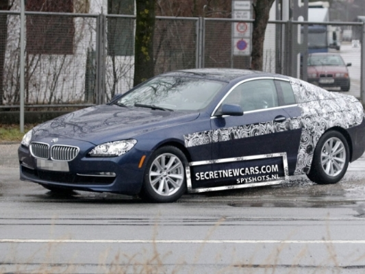Spyshot : la prochaine BMW Serie 6 Coupé quasiment à nu
