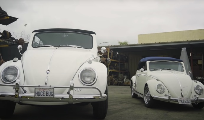 Ils construisent une gigantesque Volkswagen Coccinelle