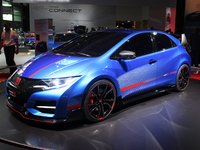 Honda Civic Type R concept : l'eau à la bouche - Vidéo en direct du salon de Paris 2014