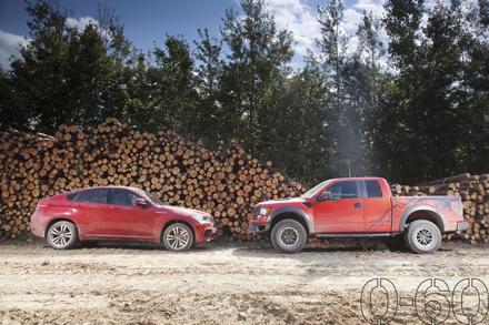 [Vidéo] BMW X6M VS Ford F-150 Raptor, deux extrêmes pas si opposés que ça