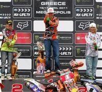 MX3/WMX - Grèce : Julien Bill et Steffi Laier rafflent la mise sous la pluie