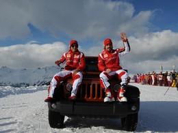 Ca fait tout drôle : Fernando Alonso et Felipe Massa font la promo du Jeep Wrangler