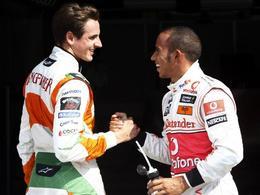 """F1 : après son procès, Sutil traite Hamilton de """"lâche"""""""