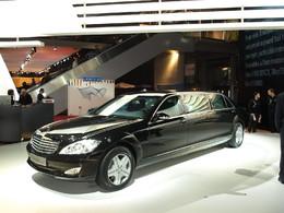 Mercedes S600 Pullman Guard en direct du Mondial