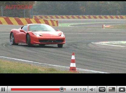 [vidéos] premiers essais presse pour la Ferrari 458 Italia