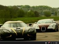 Vidéo - Bugatti Veyron vs Koenigsegg Agera S Hundra : le roi est mort, vive le roi