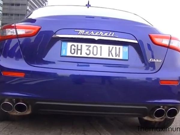 La Maserati Ghibli pour la première fois en vidéo